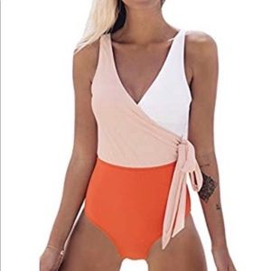Cupshe bow knot swim suit